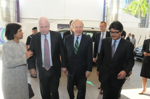 (30 May - 1 June 2012) Visit by US Senators John McCain and Joseph Liberman - 2
