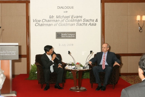 (3 July 2009) Dialogue with Vice Chairman of Goldman Sachs Asia - 11